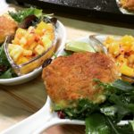 Scallop and Shrimp Cheddar Cakes from the blog