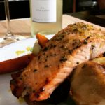 Seafaring Roasted Salmon with Harvest Veggies from the blog
